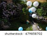Balloons Near The Fountain In...