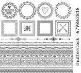 set of seamless borders  frames ... | Shutterstock .eps vector #679862818