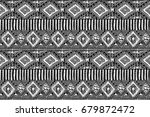fabric pattern. tribal ornament.... | Shutterstock .eps vector #679872472