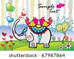 valentine background 03 | Shutterstock .eps vector #67987864