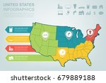 usa map with infographic...   Shutterstock .eps vector #679889188