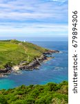Small photo of Pendeen Watch and Pendeen Cove from Carn Clough, Penwith, Cornwall.