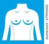 plastic surgery of torso icon... | Shutterstock .eps vector #679903402