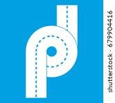 little road junction icon white ... | Shutterstock .eps vector #679904416