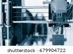 electronic three dimensional... | Shutterstock . vector #679904722