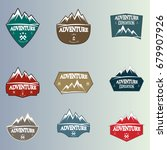 mountain logo badge | Shutterstock .eps vector #679907926