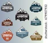 mountain logo badge | Shutterstock .eps vector #679907932