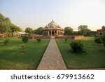 distance view of tomb and... | Shutterstock . vector #679913662