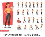 health women are exercising... | Shutterstock .eps vector #679914562