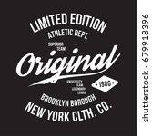 new york  brooklyn typography... | Shutterstock .eps vector #679918396