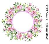 wedding card  invitation  rose... | Shutterstock . vector #679921816