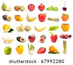 fresh fruits and vegetables... | Shutterstock . vector #67992280