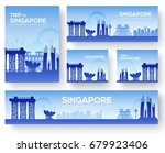 set of singapore landscape... | Shutterstock .eps vector #679923406