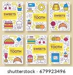 cake stand in shop vector... | Shutterstock .eps vector #679923496