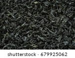 Small photo of Dried Alga food background