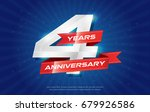 4 years anniversary background... | Shutterstock .eps vector #679926586