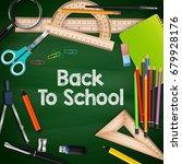 vector illustration of back to... | Shutterstock .eps vector #679928176