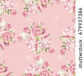 seamless floral pattern with... | Shutterstock .eps vector #679937386
