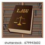 law library is an illustration... | Shutterstock . vector #679943602