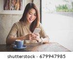 young asian beautiful woman... | Shutterstock . vector #679947985