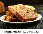 fresh healthy brunch  banana... | Shutterstock . vector #679948222