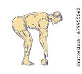 illustration of a superhero... | Shutterstock .eps vector #679955062
