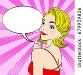 pop of cartoon woman with...   Shutterstock .eps vector #679959826