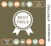 best price label icon with... | Shutterstock .eps vector #679977952