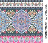 beautiful indian floral paisley ... | Shutterstock .eps vector #679982656