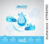 save water vector concept... | Shutterstock .eps vector #679983982