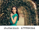 beautiful elegant woman... | Shutterstock . vector #679984366