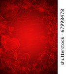 red valentine  background with hearts - stock photo