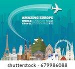 Europe Famous Landmark Paper...