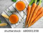 Two Glasses Of Homemade Carrot...