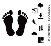 feet icon  vector best flat... | Shutterstock .eps vector #680003092