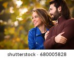 cute couple hanging out in the... | Shutterstock . vector #680005828