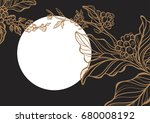 coffee branch with leaves and... | Shutterstock . vector #680008192