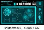 futuristic virtual graphic... | Shutterstock .eps vector #680014132