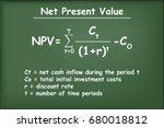 financial formula  net present... | Shutterstock .eps vector #680018812
