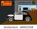 design of drive thru coffee... | Shutterstock .eps vector #680022568
