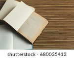 composition with books on the... | Shutterstock . vector #680025412