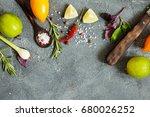 food background. clean  vegan ... | Shutterstock . vector #680026252
