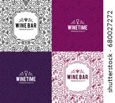 wine list design. vector... | Shutterstock .eps vector #680027272
