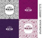 wine list design. vector... | Shutterstock .eps vector #680027272