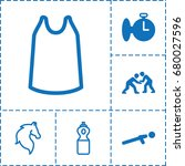 sport icon. set of 6 sport...   Shutterstock .eps vector #680027596