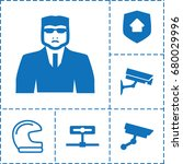 guard icon. set of 6 guard... | Shutterstock .eps vector #680029996