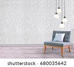 modern empty living room... | Shutterstock . vector #680035642