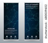 abstract roll up banner for...   Shutterstock .eps vector #680039602