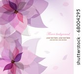 vector violet flower background | Shutterstock .eps vector #68004295