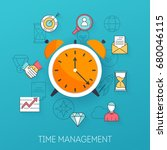 time management. planning  time ... | Shutterstock .eps vector #680046115